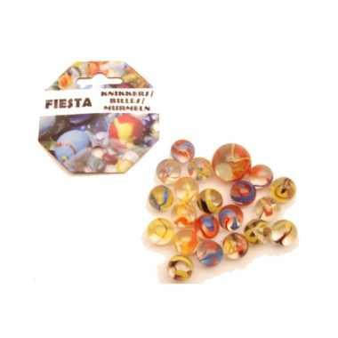 Gekleurde fiesta knikkers 21 stuks