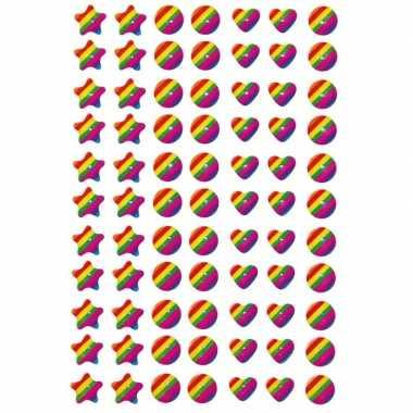 Gekleurde figuren met zacht kunsttof stickervel met 77 stickers