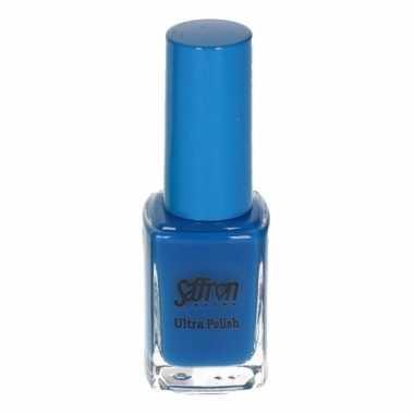 Gekleurde fluor nagellak blauw