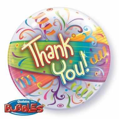 Gekleurde folieballon thank you