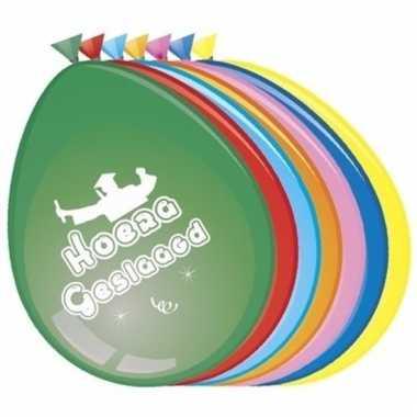 Gekleurde geslaagd ballonnen 8 stuks