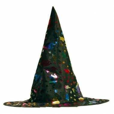 Gekleurde heksenhoed voor kinderen