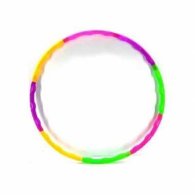 Gekleurde hoepel opvouwbaar 64 cm