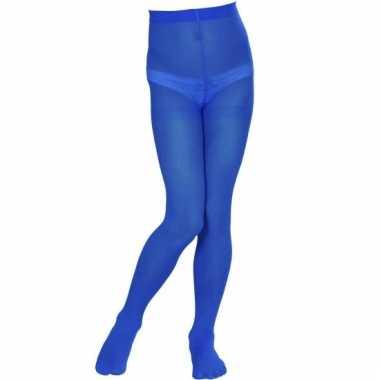 Gekleurde kinder panty blauw