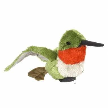 Gekleurde kolibrie vogelknuffels 15 cm knuffeldieren