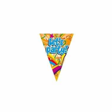 Gekleurde lets party feest slingers 6 meter