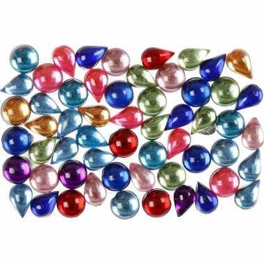 Gekleurde mozaik stenen rond 15 gram