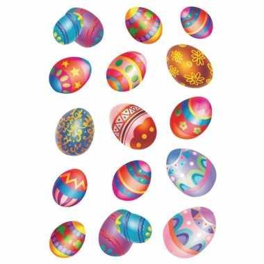 Gekleurde paaseieren stickervellen met 30 stickers