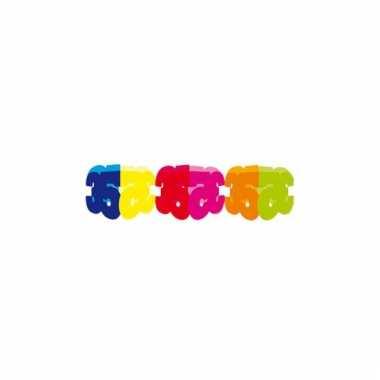 Gekleurde papieren slinger 35 jaar