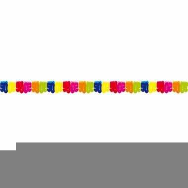Gekleurde papieren slinger 50 jaar