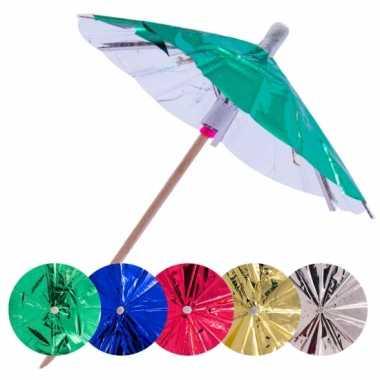 Gekleurde parasol prikkers 10 cm