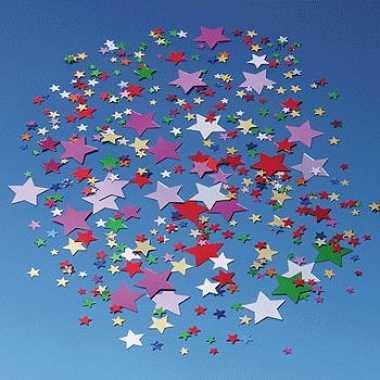 Gekleurde sterretjes confetti 30 gram