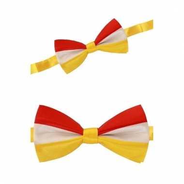 Gekleurde strik rood/geel/wit