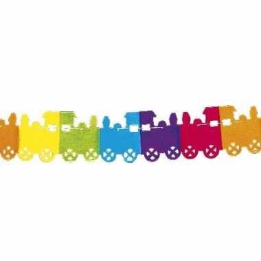 Gekleurde trein slingers 6 meter