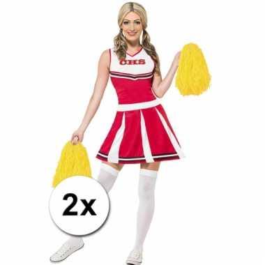 Gele cheerballs 28 cm set