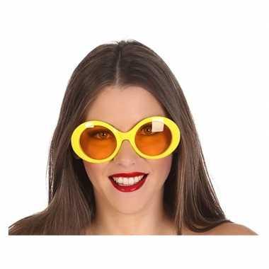 Gele dames verkleedbril