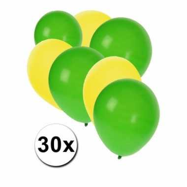 Gele en groene ballonnen pakket