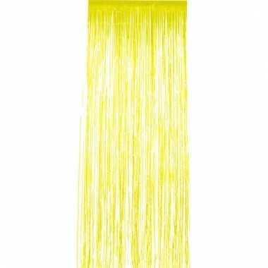Gele folie deurgordijnen 2 x 1 meter