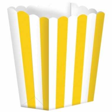 Gele gestreepte snoepbakjes 10 stuks