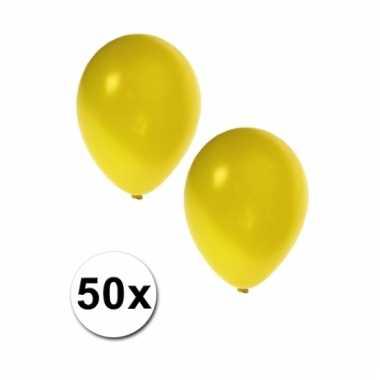 Gele grote ballonnen 50 stuks