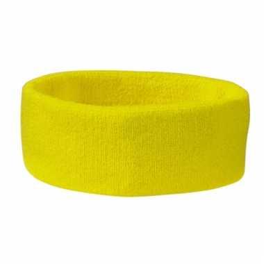 Gele hoofd zweetband