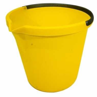 Gele huishoud emmer 10 liter