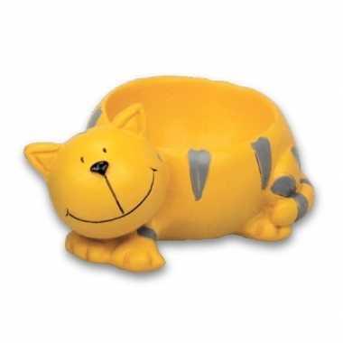 Gele kat/poes eierdopje