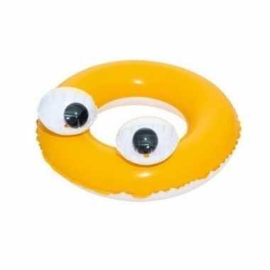 Gele kinder zwemband met oogjes 61 cm