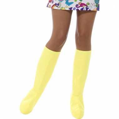 Gele laarshoezen voor vrouwen