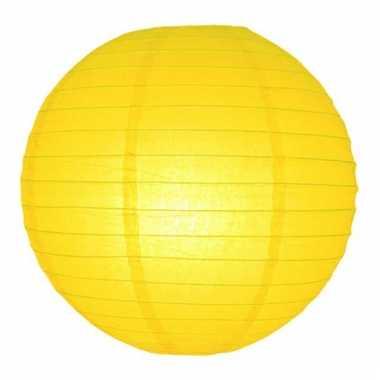 Gele lampion rond 25 cm