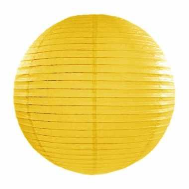 Gele lampion rond 35 cm