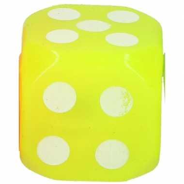 Gele ledlamp dobbelsteen