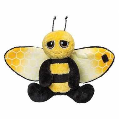 Gele met zwarte bijen knuffels 18 cm knuffeldieren