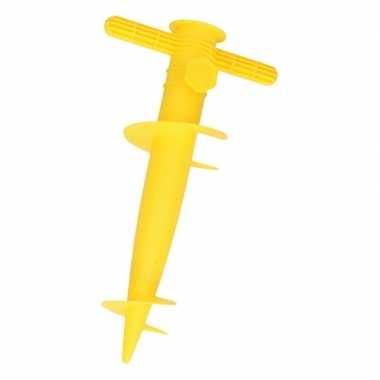 Gele parasolvoet / parasolstandaard