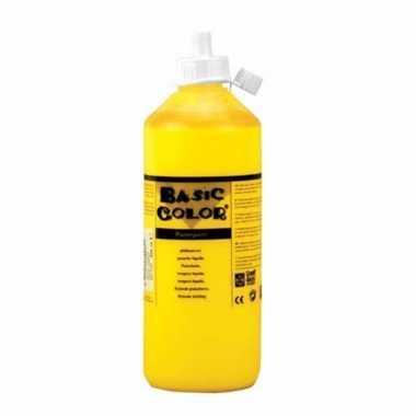 Gele plakkaatverf tube 500 ml