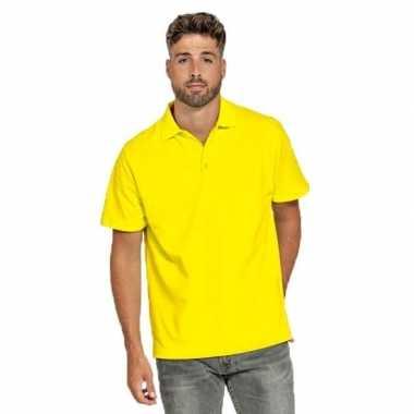 Gele poloshirt voor heren