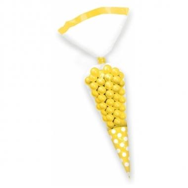 Gele snoepzakjes 10 stuks