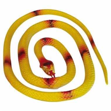 Gele speelgoed slangen 140 cm