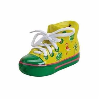 Gele sportschoen paarpot 14 cm
