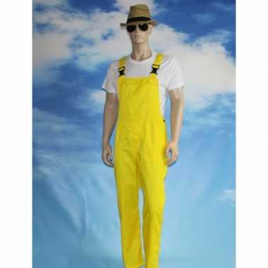 Gele tuinbroek voor dames en heren