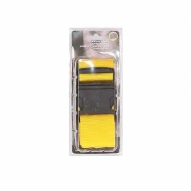 Gele verstelbare bagageband verstelbaar