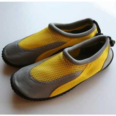 Gele waterschoenen voor dames