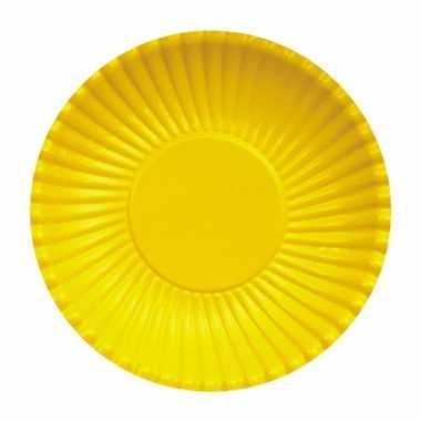 Gele wegwerp bordjes 23 cm