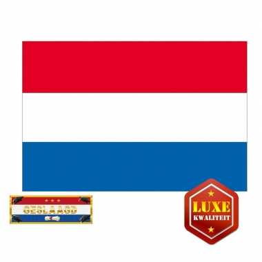 Geslaagd / afgestudeerd vlag van nederland incl. gratis sticker