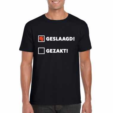 Geslaagd t-shirt zwart met afvinklijstje heren