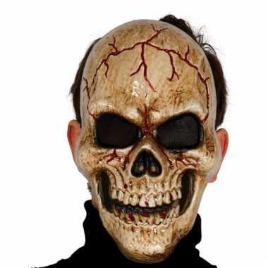 Gespleten skeletten masker