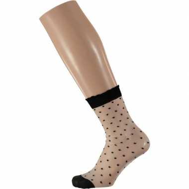 Gestippelde panty sokken voor dames