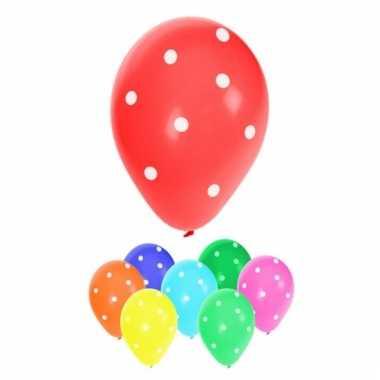 Gestipte ballonnen in diverse kleuren