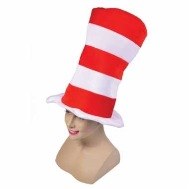 Gestreepte mega hoge hoed
