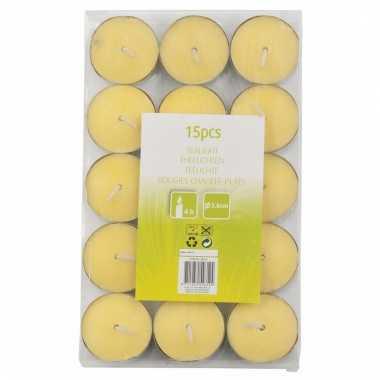 Geurkaarsjes citronella 15 stuks